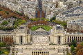 Paris trocadero square seen from top of eiffel tower Royalty Free Stock Images