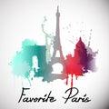 Paris. Vector illustration Royalty Free Stock Photo