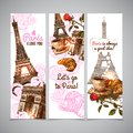 Paris Vertical Banners Royalty Free Stock Photo
