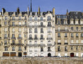 Paris: very nice facade of ile de la cite Royalty Free Stock Photography