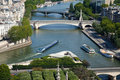 Paris, view of the Seine Stock Images
