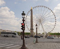 The Paris wheel on the Place de la Concorde. By area moving veh