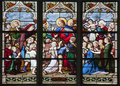 Paris - windowpane - Jesus with the children Stock Images