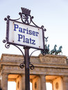 Pariser platz in berlin with brandenburger tor Stock Photos