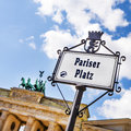 Pariser platz brandenburger tor and in berlin Royalty Free Stock Photos