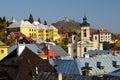 Farský kostol a kalvária v meste Banská Štiavnica