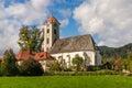 Parish church in obermühlbach view of the gothic baroque style obermuehlbach carinthia austria Stock Photography