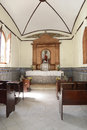 Parish church of san dionisio interior the in the city higuey in the dominican republic Stock Photos