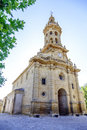 Parish church of san miguel in cuzcurrita la rioja spain Royalty Free Stock Images