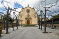 Parish church of sant genis spain taradell in catalonia Stock Images