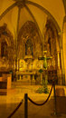 The parish church of santa pau medieval village in northeastern catalonia has a with a surprisingly richly decorated interior Royalty Free Stock Image