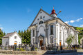 Parish Church St. Peter and Paul in Andermatt Royalty Free Stock Photo