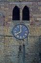 Parish church tower and clock warkworth northumberland Royalty Free Stock Image