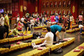 Parishioners in buddha tooth relic temp singapore jan temple Stock Image