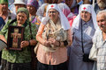 Parishioners ukrainian orthodox church moscow patriarchate during religious procession kiev ukraine july at present there is Royalty Free Stock Photos