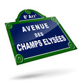 Parisian avenue plates vector illustration of on white background Stock Image