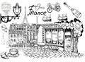 Parisian views Paris cafe on a romantic street Attractions and details of the exquisite charm of Paris