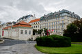 Park adjacent to Lower Belvedere  in Vienna Royalty Free Stock Photo