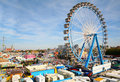 Park of attractions. Munich Octoberfest. Royalty Free Stock Photo