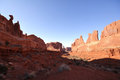 Park avenue in arches national park evening light on Royalty Free Stock Image