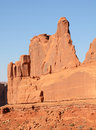 Park avenue rock formation in arches national park evening light on Royalty Free Stock Images