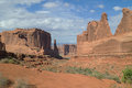 The Park Avenue trail in Arches National park,USA. Royalty Free Stock Photo