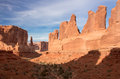 Park avenue view of avenuel in arches national utah Royalty Free Stock Image