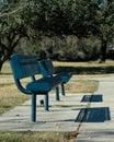 Park Benches 388 Royalty Free Stock Photos