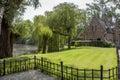 Park in Brugge, Belgium. Royalty Free Stock Photo
