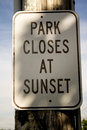 Park closes at sunset