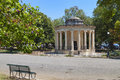 Park at corfu island in greece maitland s monument ano platia of Royalty Free Stock Photos