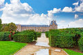 Park des tuileries and the louvre museum paris france Stock Photography