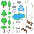 Park elements set.