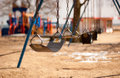 The park empty playground in chicago on a bright and sunny day Stock Images