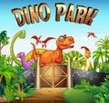 Park full of dinosaurs