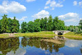 Park in Gatchina, Russia Royalty Free Stock Photos