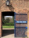 Park gate Royalty Free Stock Photo