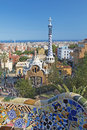 Park guel in barcelona apr guell was designed by the catalan architect antoni gaudí and built the years to april spain Stock Photo