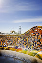Park guell barcellona view of the barcelona Stock Image
