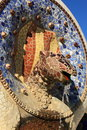 Park guell in barcelona catalonia spain Royalty Free Stock Image
