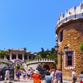 Park guell in barcelona parc famous designed by antoni gaudi catalonia spain Stock Image