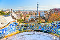 Park Guell in Barcelona, Spain. Royalty Free Stock Photo