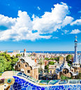 Park guell in barcelona spain Royalty Free Stock Photography