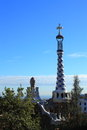Park guell in barcelona spain catalonia Stock Photo