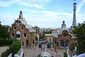 Park guell barcelona spain june the famous in barcelona spain Royalty Free Stock Images