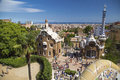 Park guell in barcelona spain it is part of the unesco world heritage site works of antoni gaudi Stock Images