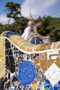 Park guell in barcelona spain it is part of the unesco world heritage site works of antoni gaudi Royalty Free Stock Image