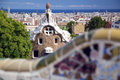Park guell in barcelona spain it is part of the unesco world heritage site works of antoni gaudi Stock Photography