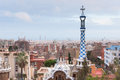Park guell in barcelona spain was designed by the catalan architect antoni gaudi Royalty Free Stock Photos