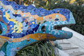 Park Guell Dragon Stock Photo